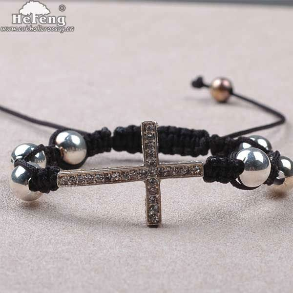 Wholesale Sideways Cross Bracelet