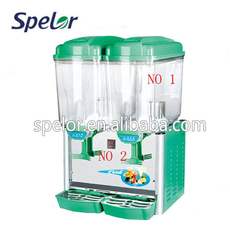2x15L Cheapest double bowls cold drink dispenser/beverage dispenser