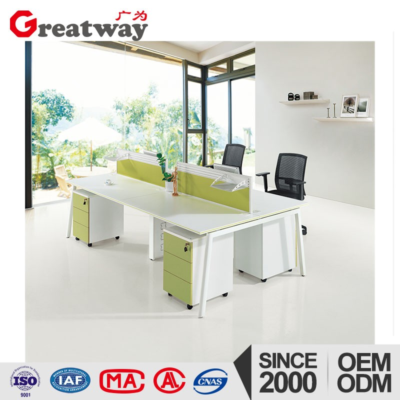 Cheap fashion steel frame office partition workstation desk