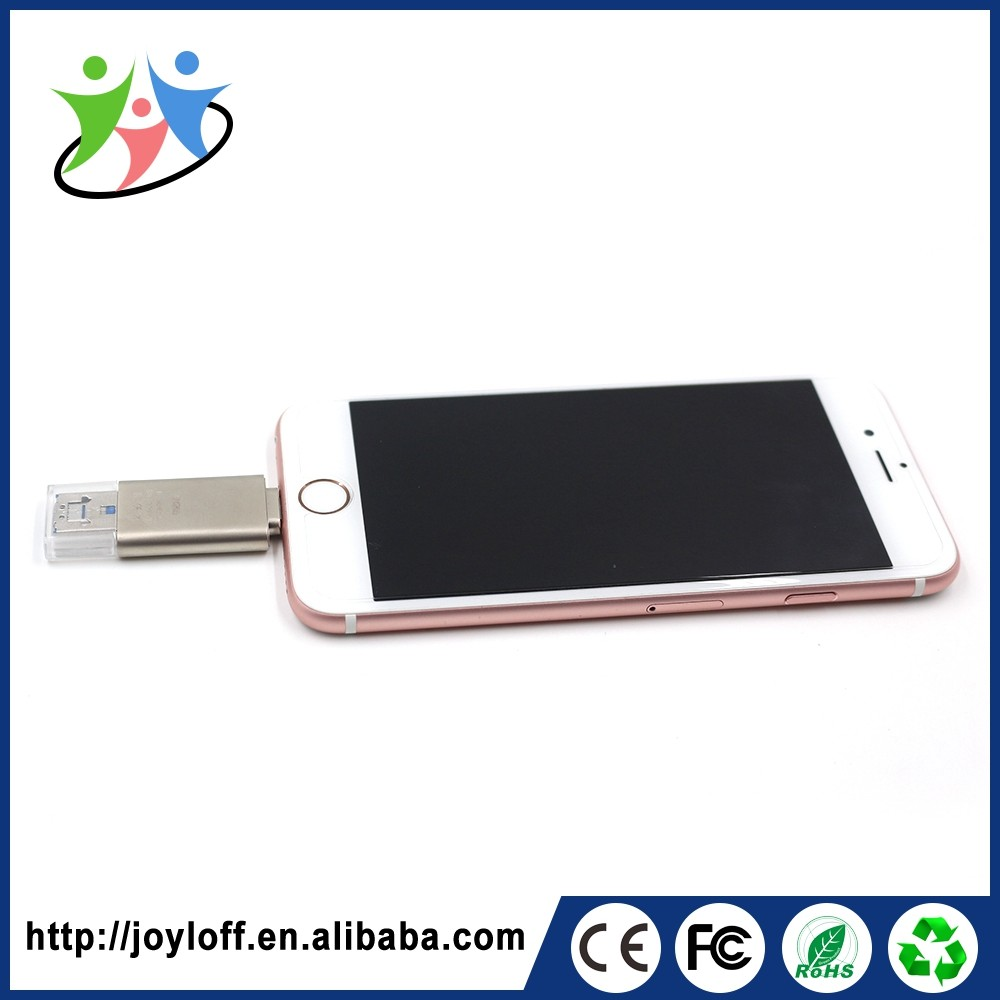 Good Quality Dual Double Plug Interface Otg Mobile Phone Pc Metal Material Hot Selling Usb Flash Drive