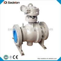 API Standard Ceramic Ball Valve gear operate