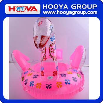 TY197813 Lovely thick popular goose design inflatable duck swim ring