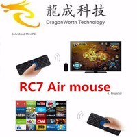 Hot selling fly mouse RC7 Wireless Keyboard For Android TV Box air mouse RC7