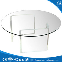 Hot sale high quality custom clear acrylic round table top