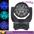 Most Popular Wholesale Price 12/16 Channel Control Dj Club Stage Use 4 In 1 Rgbw Wash Led Zoom Moving Head Light