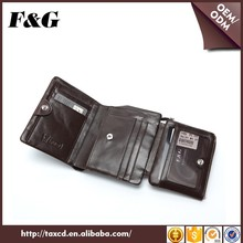 2016 Luxury Design Leather Men's Wallet Trifold Brands