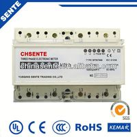 DTS7666 TYPE THREE-PHASE ELECTRIC DIN RAIL 3 phase 4 wire kwh meter