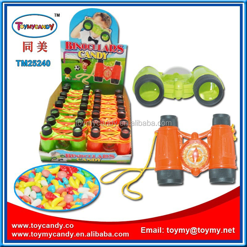 2016 cheapest price child toy candy small toy mini toy telescope with candy best selling in retail store