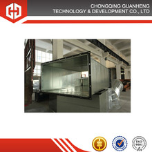 Galvanized Steel Rectangle Air Conditioning Duct With Steel Flange For HVAC System ASF