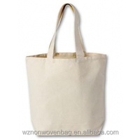 Custom Grocery 100% Blank Natural Cotton Canvas Tote Bag