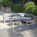 Full aluminum frame adjustable headrest patio garden sofa set