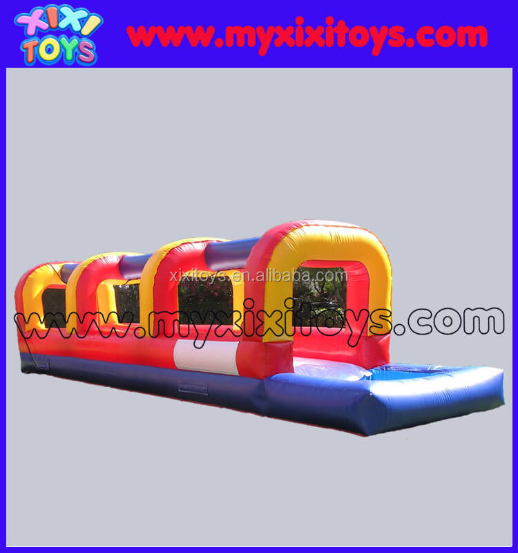 xixi toys single lane inflatable slip and slide with pool