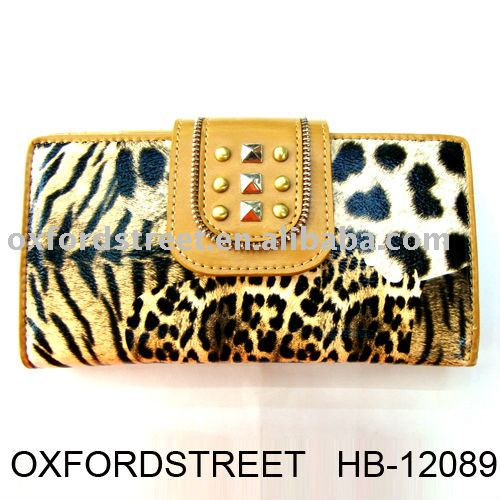 2012 fashion wallet,lady wallet, Leopard grain purse HB-12089