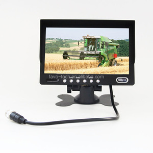 DC12V & 24V Digital Panel 7 Inch Car LCD Monitor with RCA Connector