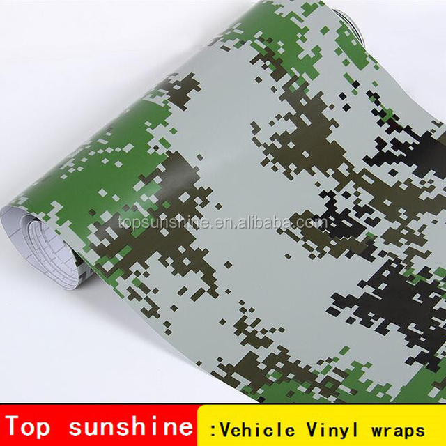 car sticker parts vehicle camouflage wrap holographic vinyl camo car vinyl wrap economy Camouflage Woodland Green