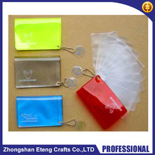 Customized colorful clear vinyl swivel card holders