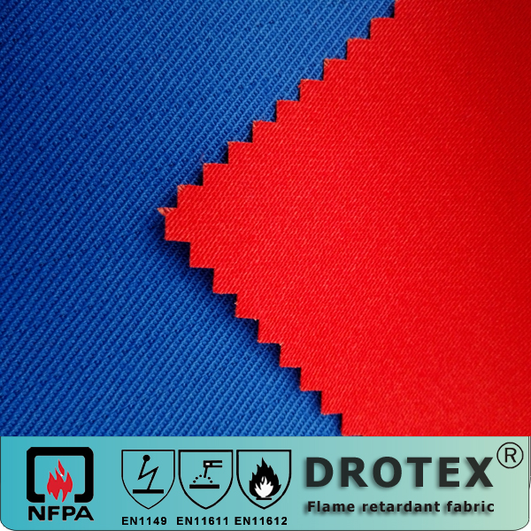 flame retardant and waterproof anti-static sateen cloth for protective garment