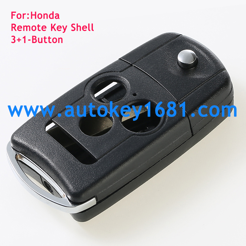remote key shell for honda 3+1 button flip car key case cover