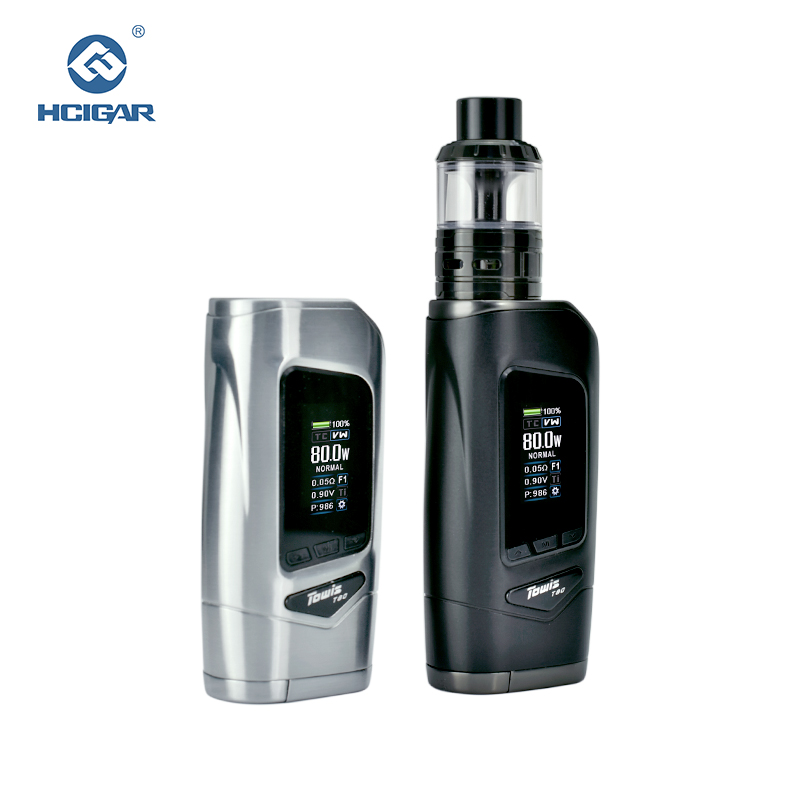 2018 Shenzhen free sample box mod vape 80W e cigarettes