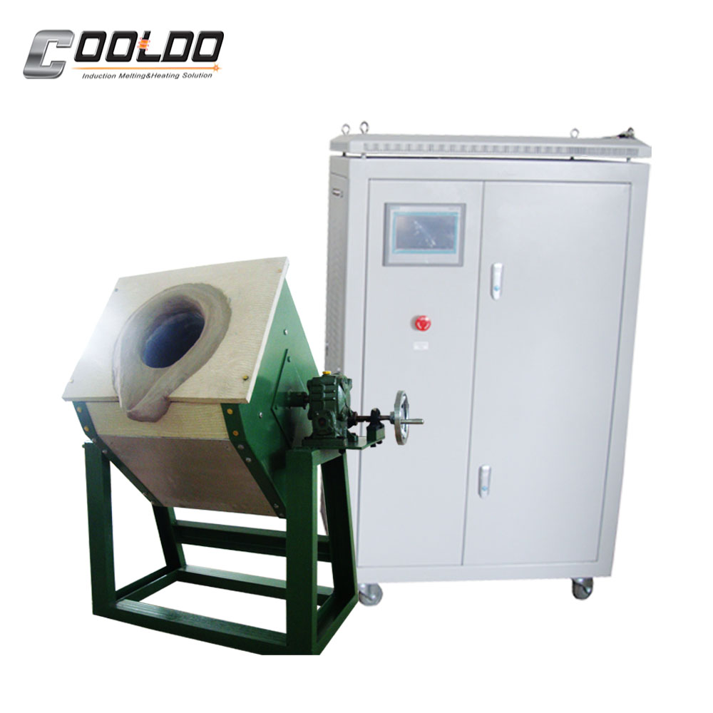 Small manual tilting meltal scrap melting furnace