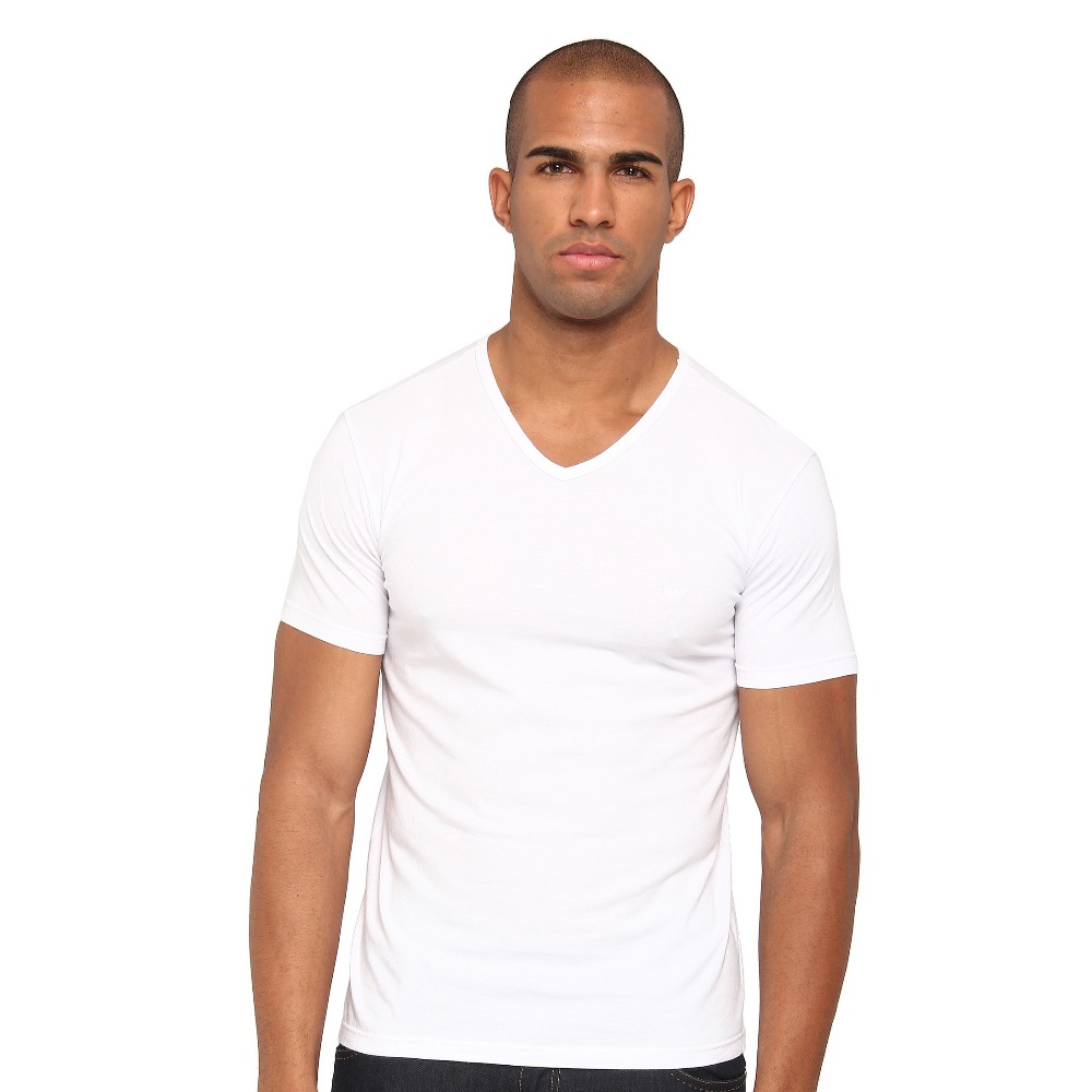 Wholesale bulk cotton v neck tee blank white t shirt for Where can i buy t shirts in bulk for cheap