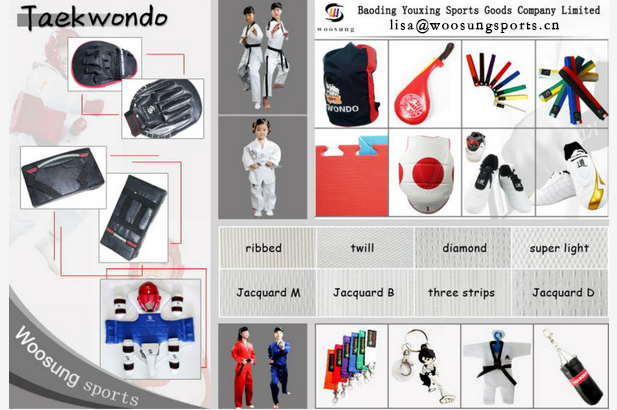 short sleeves colourful summer taekwondo uniform for kids