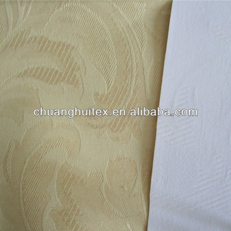 100% polyester wide width 3 pass coating blackout fabric for curtain