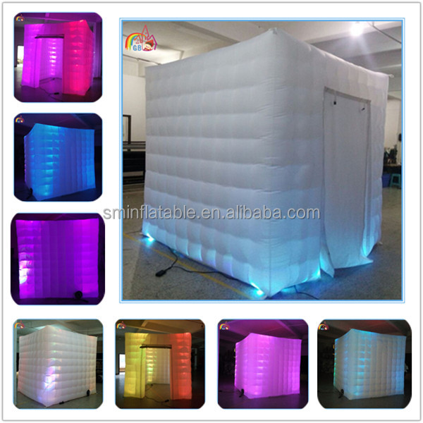2016 top selling colourful led spray inflatable photo booth from China manufacture
