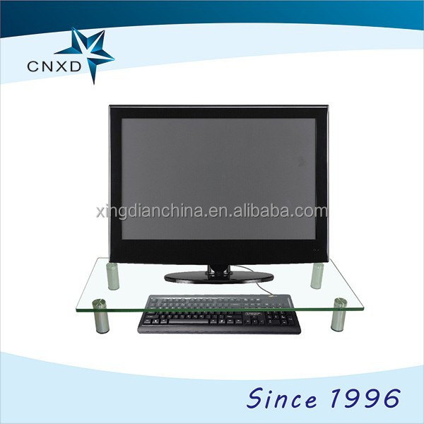 New Design elegant tempered glass laptop stand for a monitor and notebook