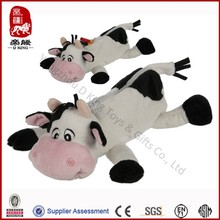 Plush cow pencil case stuffed soft pen case for kids customized pen case
