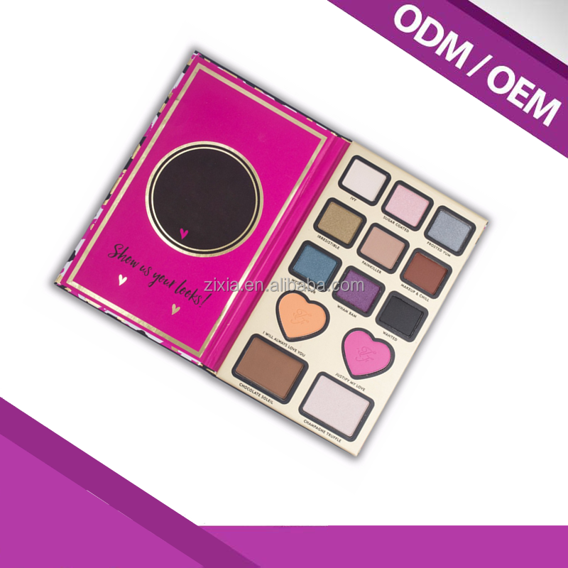 Too Hot Selling cosmetics of 13 Colors Faced The Powder Of Makeup Heart Shaped Eye Shadow Palette