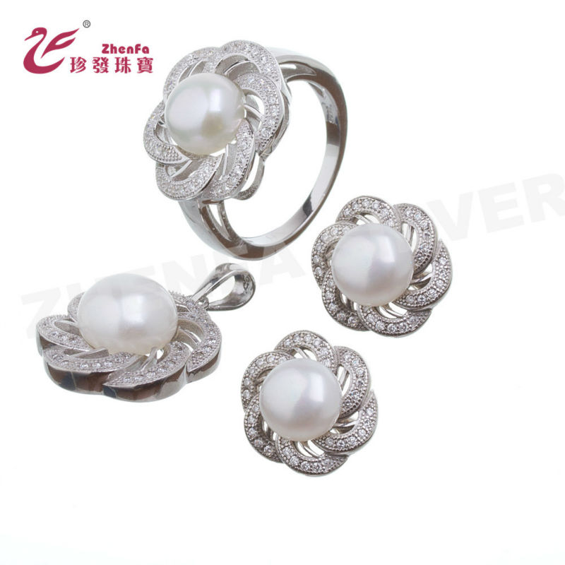 925 sterling silver jewelry pearl set original pearl sets