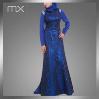 Hot Sale Garments Importer Long Malaysia Thobes Mature Turkish Evening Dresses for Women
