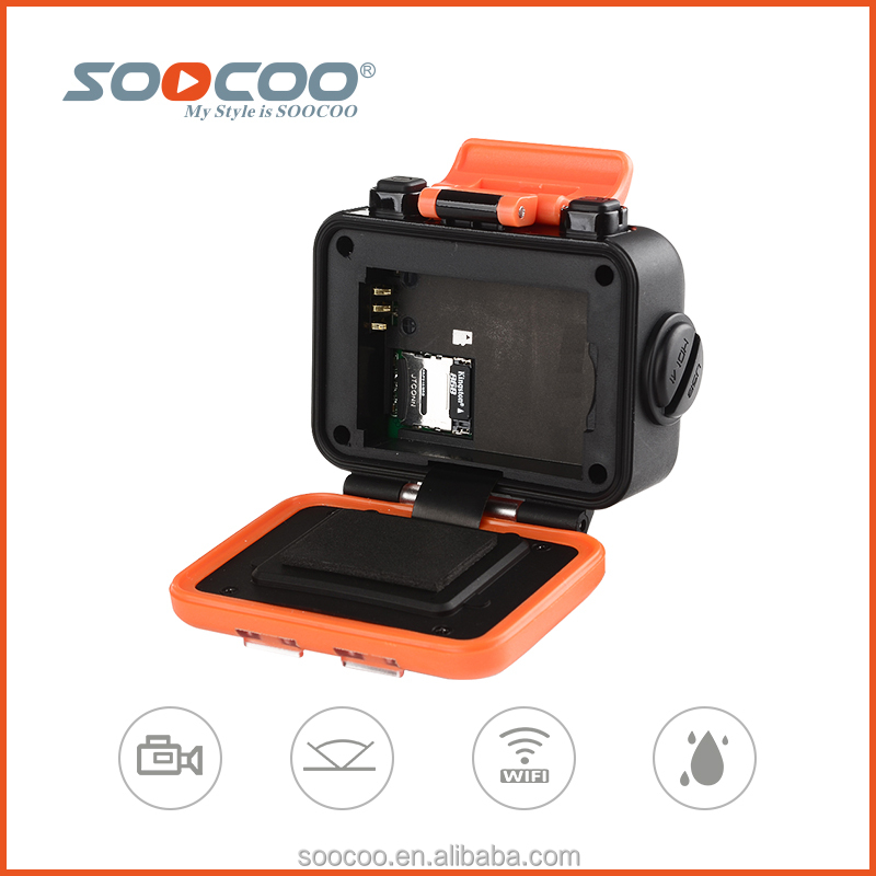 SOOCOO S70 Sport Camera Wifi 2k 60fps 1080p@30fps Waterproof with Watch Remote Control(Add 1 32G Card)