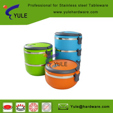 Kids popular stainless steel lunch box / food container with lid and lock 1/2/3/4 layer