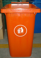 240liter outdoor recycled waste bin with handle cover