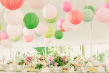 Factory direct sale professional manufacturer sale paper Lampion assorted hanging Round paper lantern paper ball for decoration