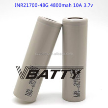 Newest powerful battery cell for electric vehicle 21700 48G battery cell INR21700-48G 4800mAh 10A discharge li-ion battery