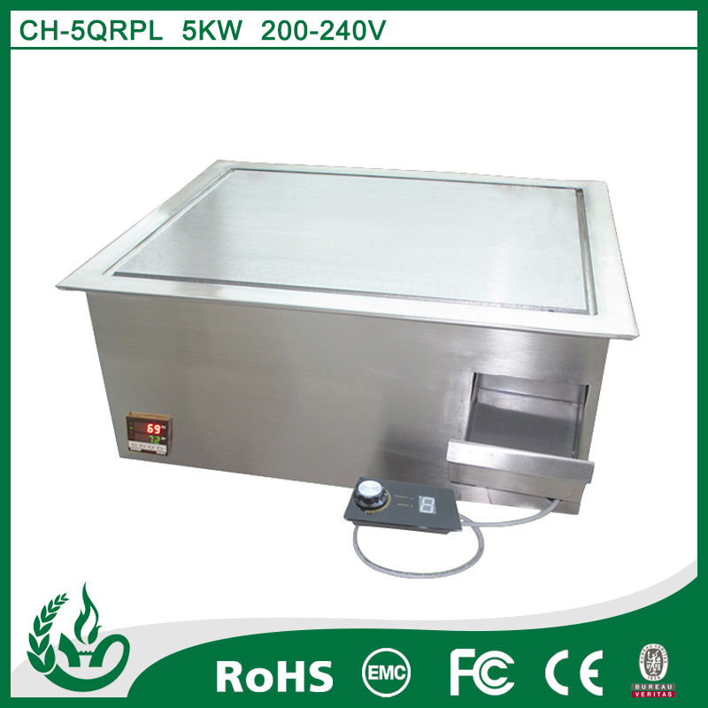 Novel embedded teppanyaki table electric stove for kitchen
