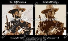 movie star's portrait Clint Eastwood Josey Wales oil painting