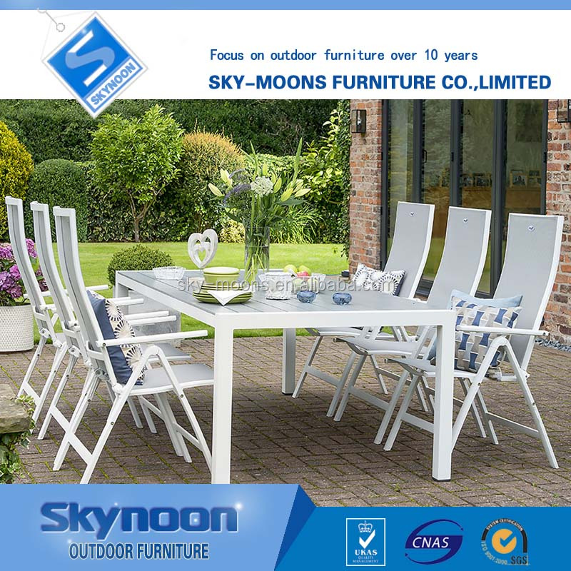 white easy clean oreutdoor patio furniture, outdoor patio polywood table, teslin outdoor furnitu(ts-C007)