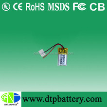 Small capacity lithium ion polymer battery/lipo battery/li polymer battery 3.7v 60mah