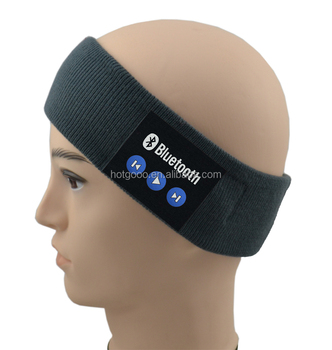 Newest type flexible Custom bluetooth headband with stereo for Sweatband handfree speaking function