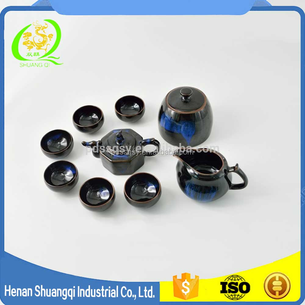 Chinese style porcelain popular flower porcelain for office eco-friendly tea set