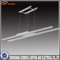 Home Led Lighting 1200mm 2*30w Silver decoration hanging tube light