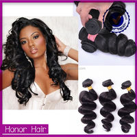 Large stock wholesale loose wave brazilian human wet and wavy sew hair in weave