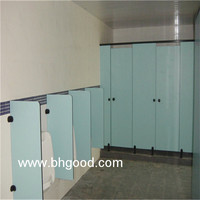 waterproof light green phenolic laminate Toilet Partition Cubicle