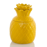 Ceramic Home Decoration Glazed Pineapple Canister
