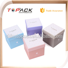 Free Sample Rigid Gift Cardboard paper Box with lid