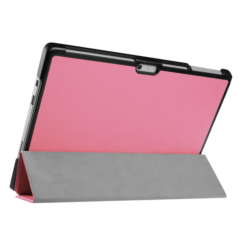 XOWO Slim High Quality 3 Folding Flip Folio PC Leather Hybrid Tablet Case Cover Full Protector for Surface Pro 4